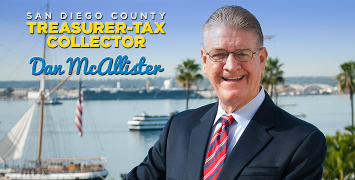San Diego County Treasurer-Tax Collector Dan McAllister