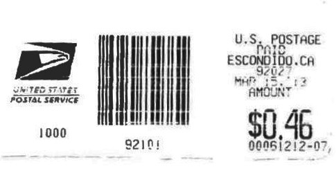 Postage Validated Imprint